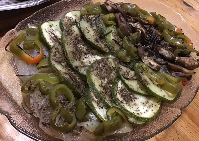 Légumes en papillote au romarin