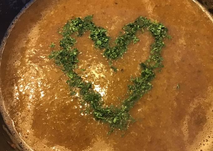 Soupe tomates champignons et panais