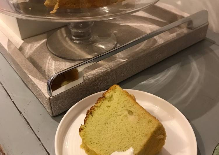 Easiest Way to Make Perfect Green Tea Chiffon Cake