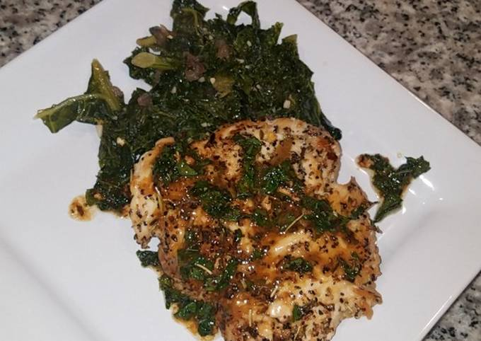 Quick Pan seared chicken