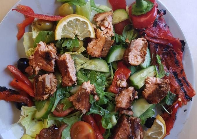 My Marinated Salmon Salad