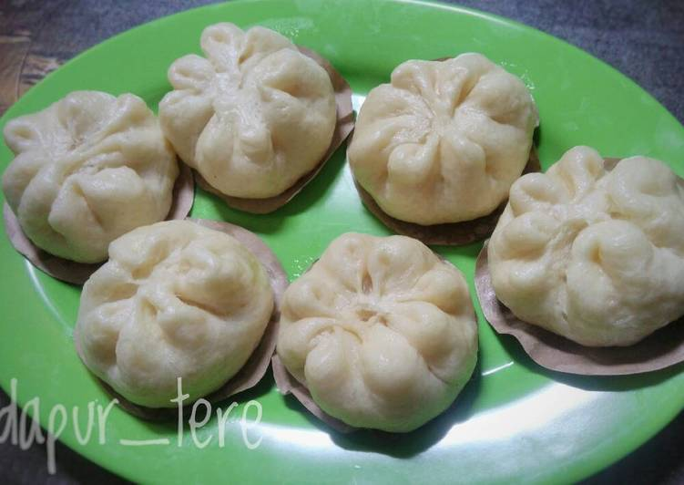 Steamed bun/pao isi keju susu (metode all in one)
