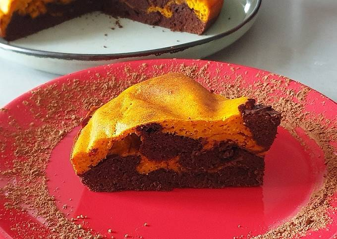 Gâteau chocolat / potimarron sans matière grasse