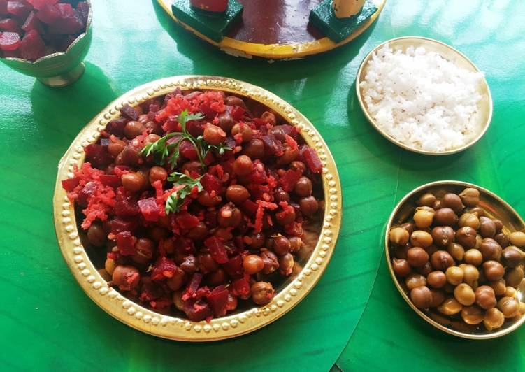 How to Prepare Ultimate The gentle Udupi treat – Beetroot and black chickpeas curry