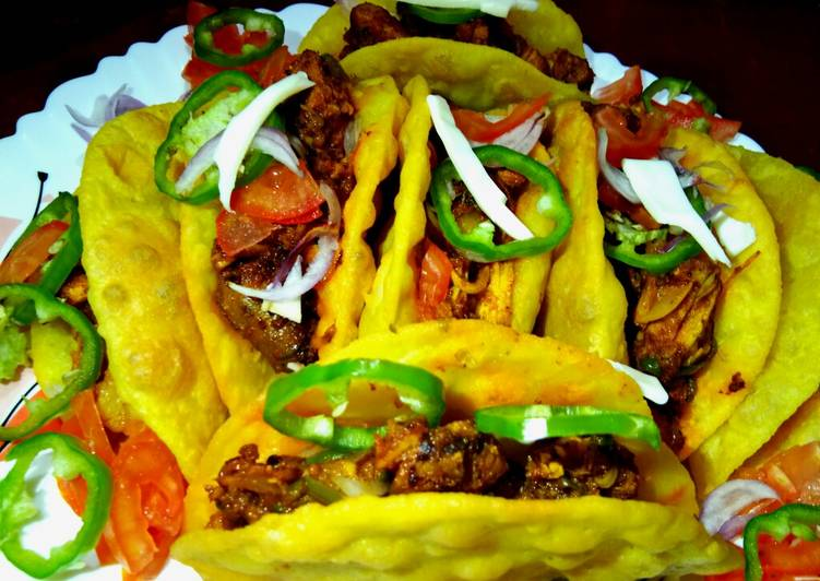Rava-Moong Tacos with Stuffed Chicken