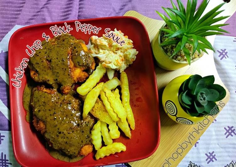 Chicken Chop & Black Pepper Sauce