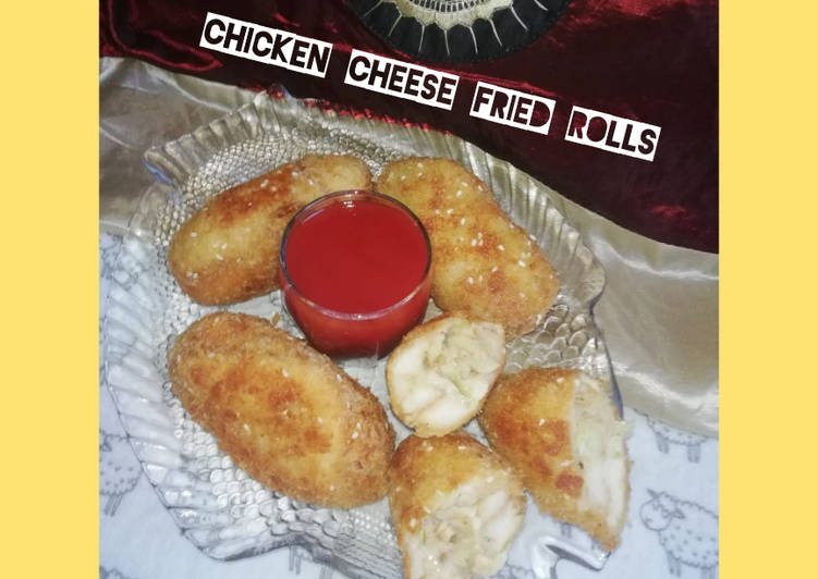 Recipe of Ultimate Chicken Cheese Fried Bread Roll