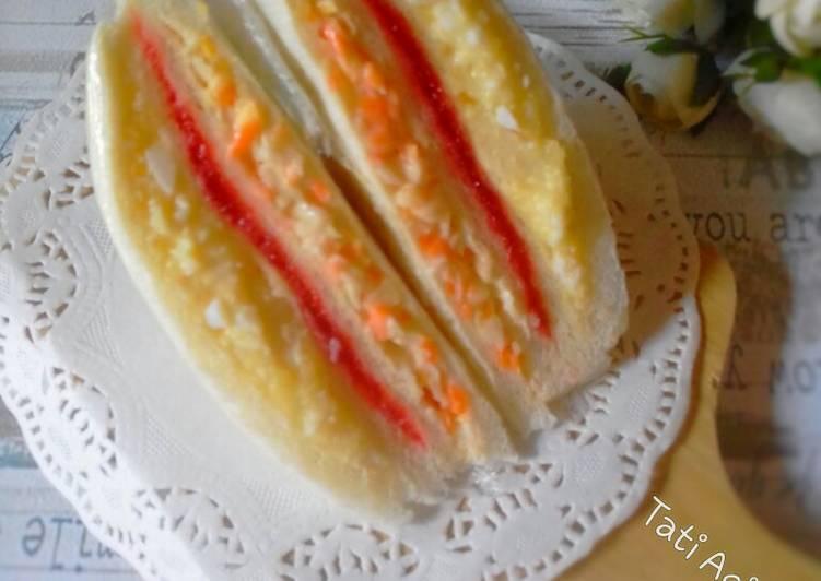 Resep Inkigayo sandwich/sandwich ala korea Paling Enak