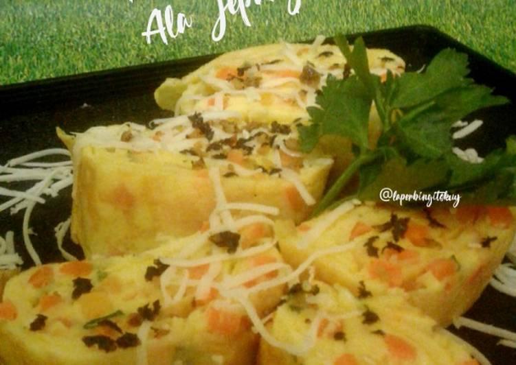Gyeran Mari Aka Tamagoyaki / Telur Gulung Keju Ala korea atau Jepang
