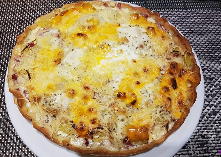 Pizzas aux fromages et pommes de terre