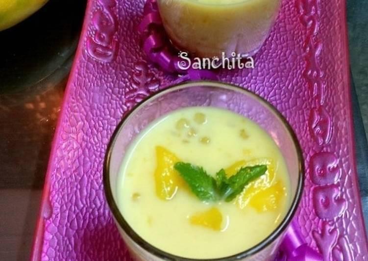 Recipe of Homemade Mango Sago Pudding