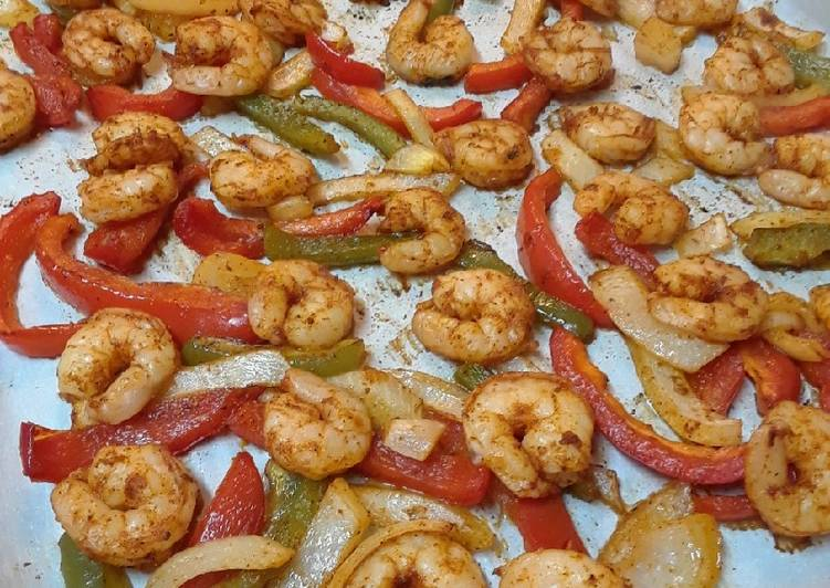 Recipe: Perfect Sheet Pan Shrimp Fajitas