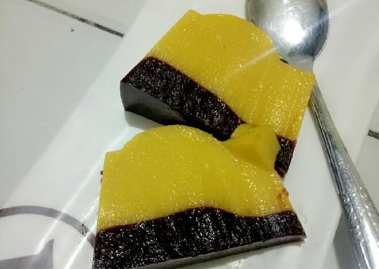 Puding Labu Kuning Vla Coklat