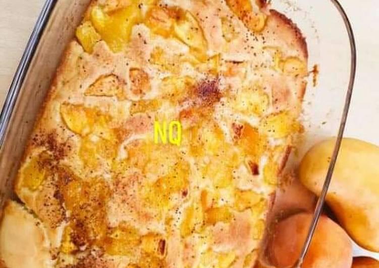 Mango Peach Cobbler