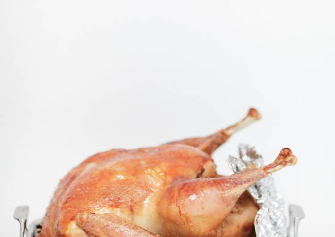 Roast Chicken with Helzel Stuffing
