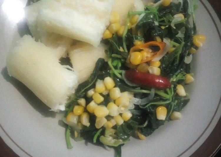 Tumis Bayam Jagung | Diet Bumil 28 week | Day 2
