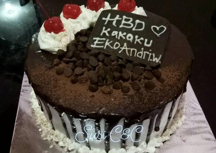 Base cake ultah rasa coklat