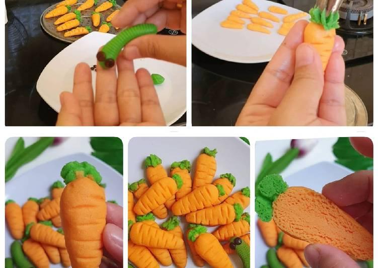 Cookies ulat - cookies wortel