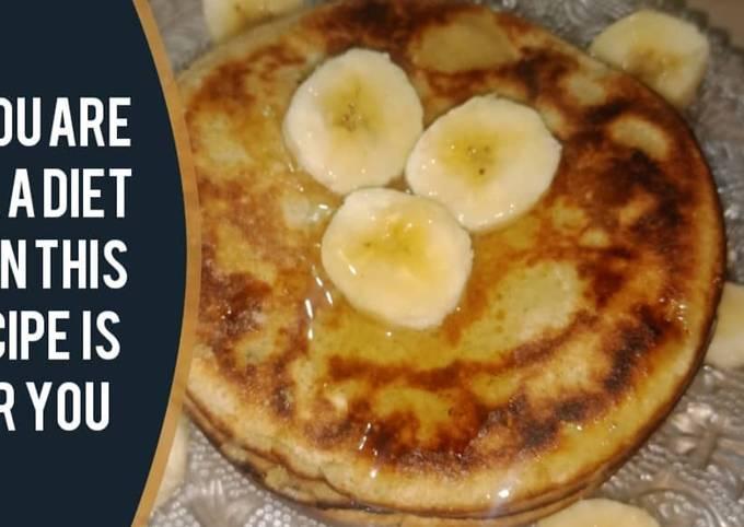 Oats and banana pancakes