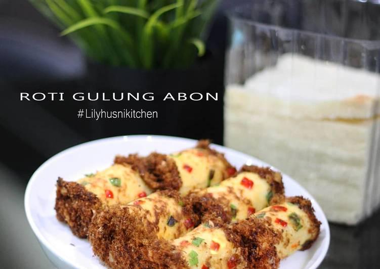 Roti tawar gulung abon (No bake / No oven)