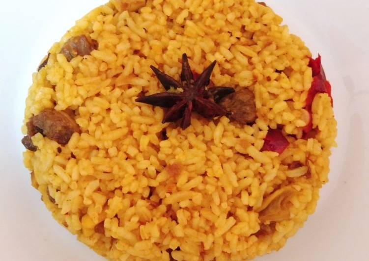 Nasi briyani daging sapi