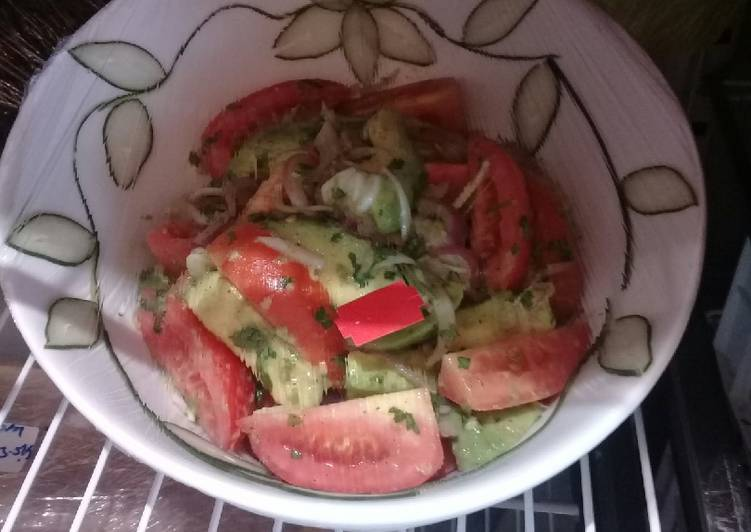 Tomato Avocado salad #Author Marathon#