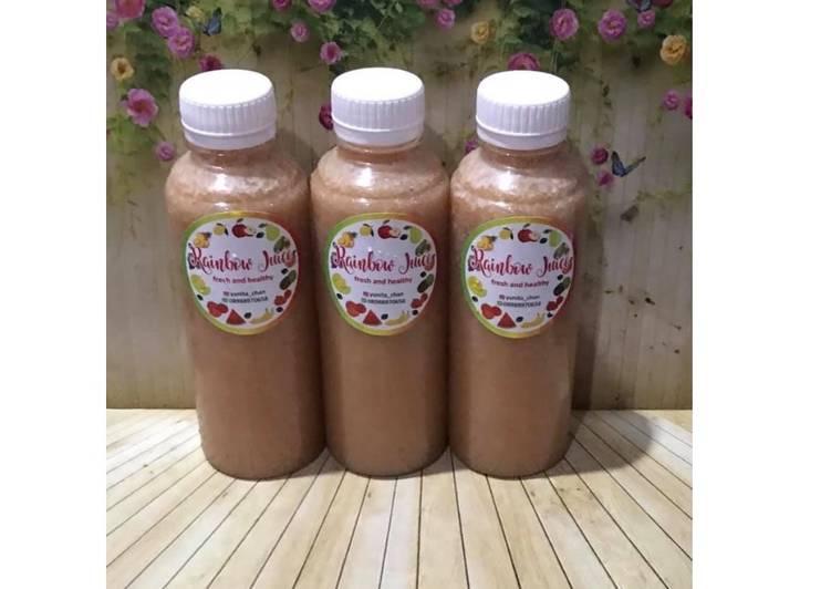Diet Juice Asparagus Strawberry Banana Papaya