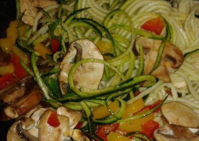 Alkaline - Zucchini Veggie Mushroom Bowl