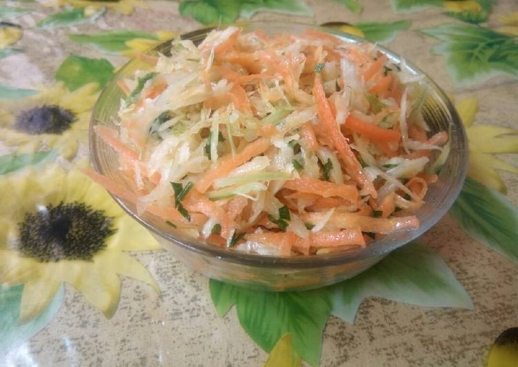 Steps to Prepare Favorite Salade de fenouil et carotte