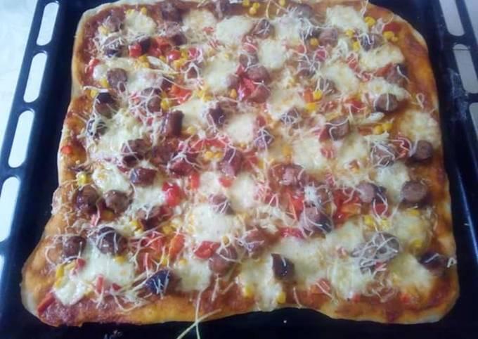 Pizza maison à la mexicaine