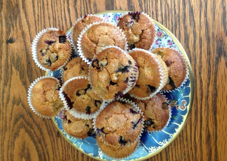 Recipe of Homemade Blueberry and banana muffins