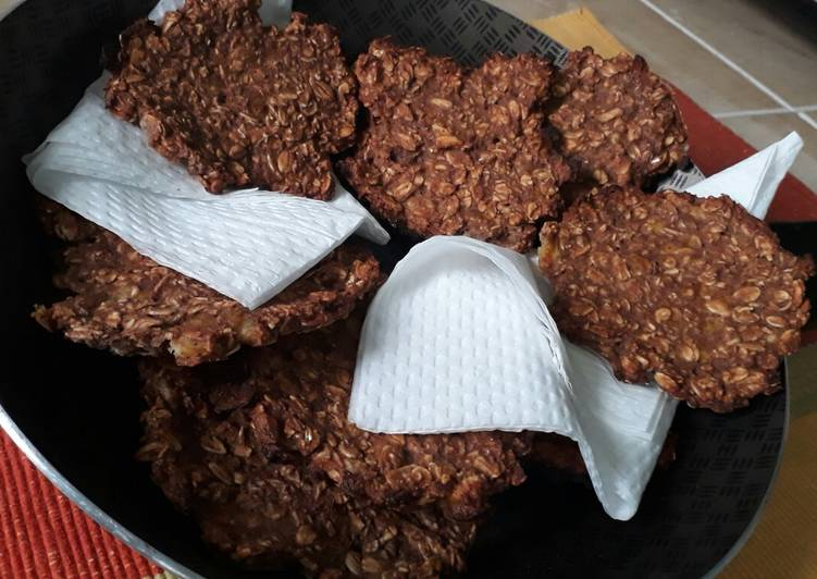 Healthy banana choco oatmeal cookies #cookiescontest