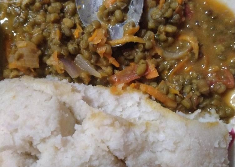 Ugali Ndengu and yoghurt