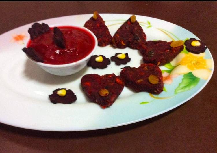Beetroot cutlets - Laurie G Edwards
