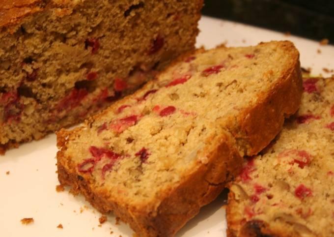 Cranberry Banana Walnut Bread