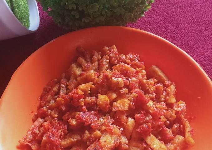 sambal goreng tempe tahu - resepenakbgt.com