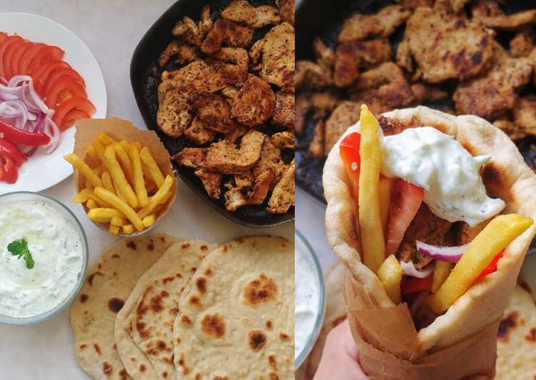 Recipe: Appetizing Greek Chicken gyros