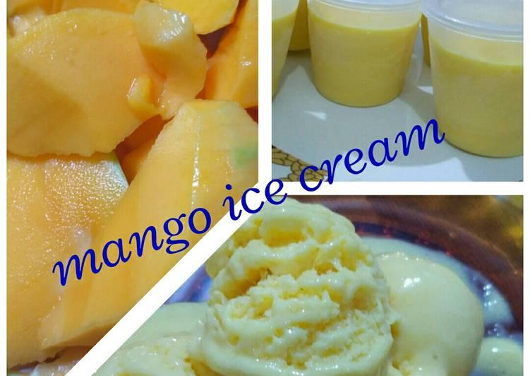 Resep Mango Ice Cream Homemade Simple Oleh Tatie P Sugara Cookpad