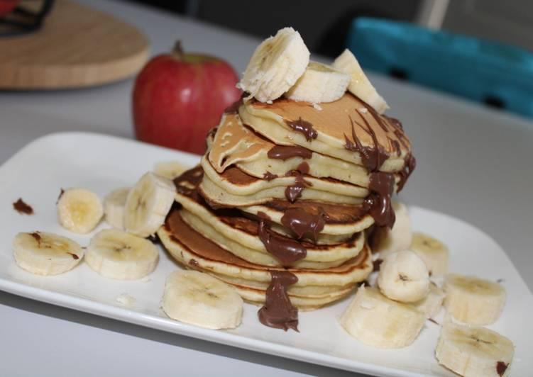 Recette Délicieux Pancakes à la compote de pommes