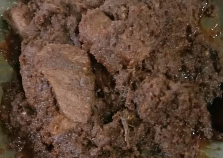 Rendang daging khas minang Asli
