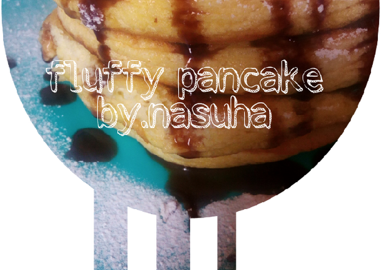 Resep Japanese fluffy pancake Top