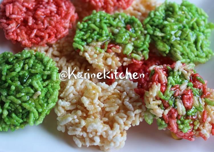 Galette de riz gluant soufflé