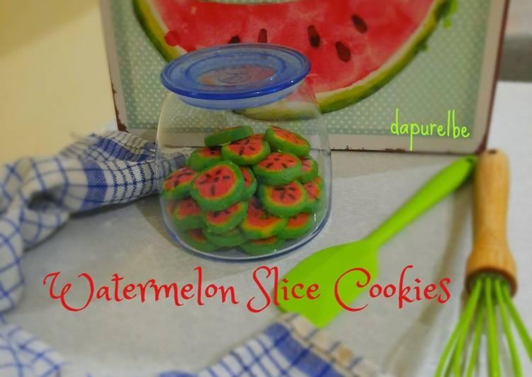 Watermelon Slice Cookies #dapurelbeweek4 🍉🍉