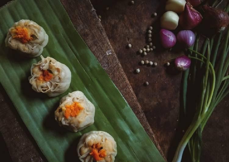 Dim Sum Ayam dan Udang ~ Homemade menggunakan kulit pangsit