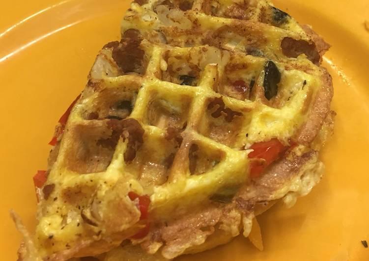 """Recipe: Yummy """"Wallet"""" (waffle/omelette)"""