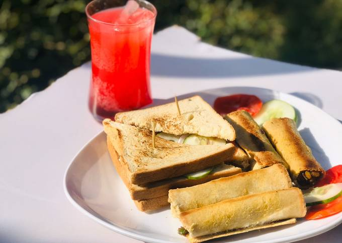 Cigar roll and club sandwich