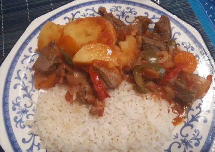 Estofado De Carne Con Arroz Receta De Anna Scappini Cookpad