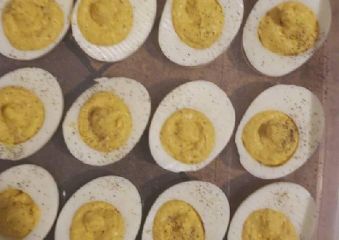 His Deviled eggs recipe
