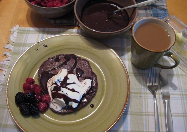 Chocolate Pancake with Decadent Chocolate Sauce