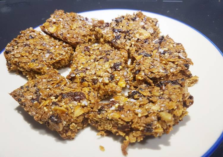 Step-by-Step Guide to Prepare Perfect Apricot and almond flapjacks with honey and seeds